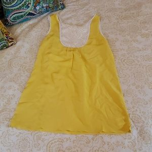 Joe's yellow silk mini dress s l.